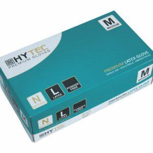HYTEC Natural Latex Powder Free Disposable Gloves